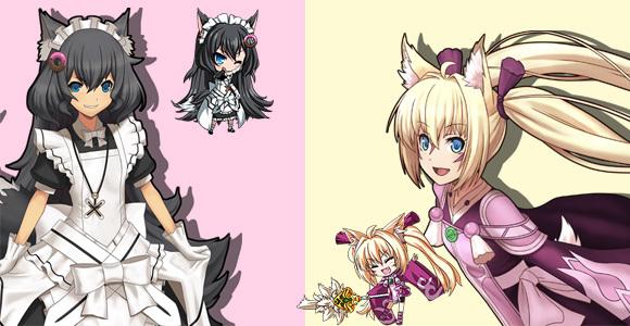 猫耳娘意外的多!古露露(猫?),白百虎(虎),赛菲儿(狐狸),琉璃(黑猫?